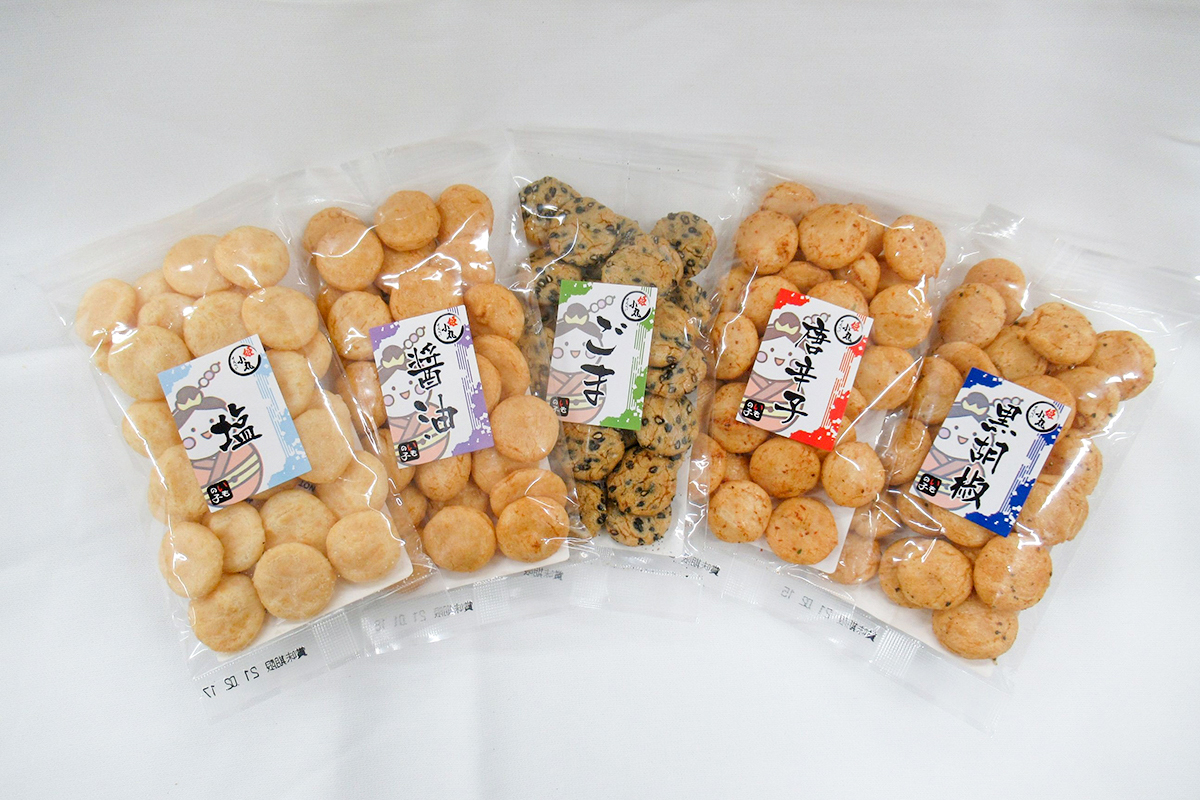 姫小丸せんべい(5種類):70円~