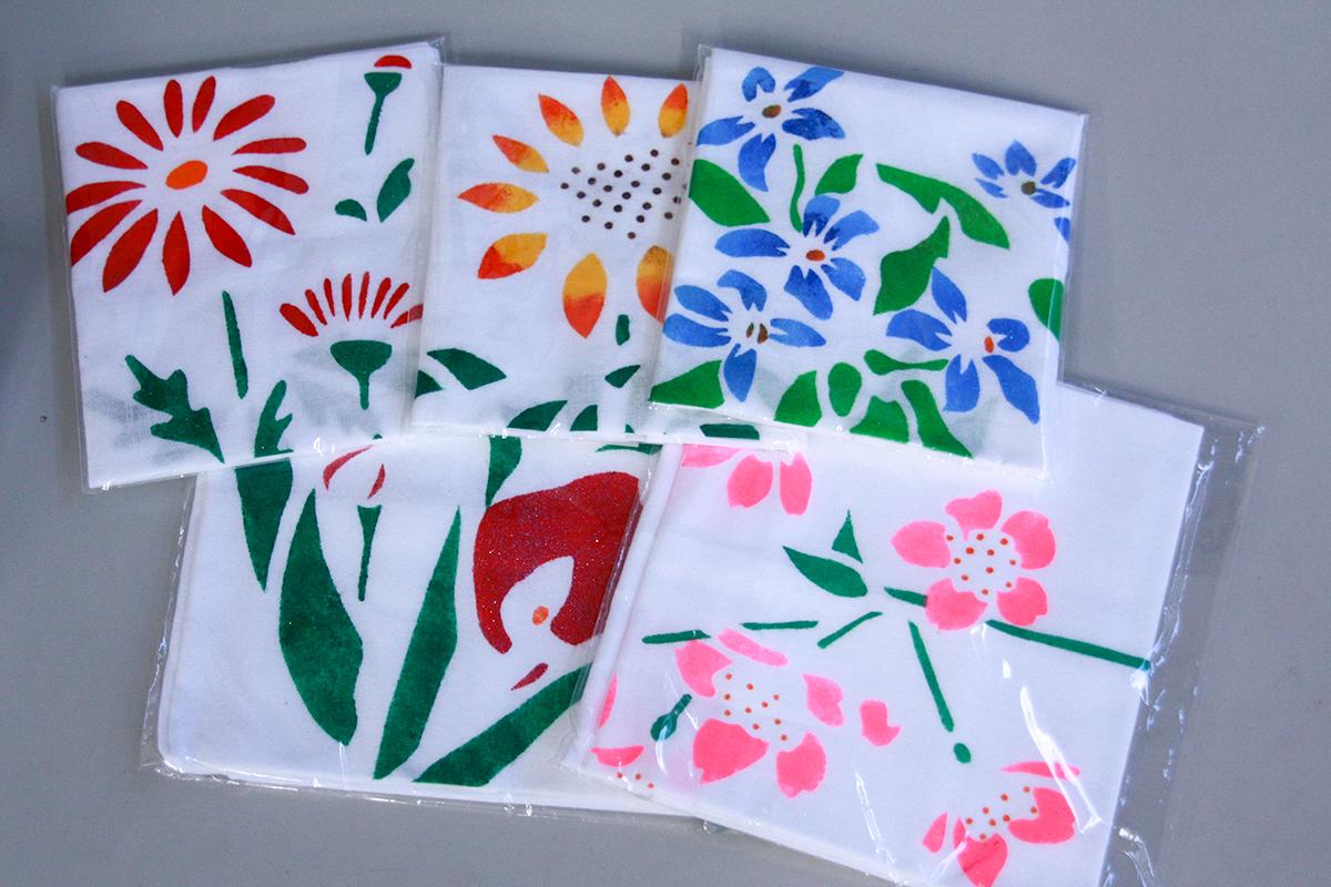 型染布きん(花):100円