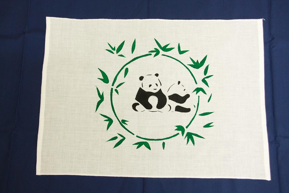 型染布きん(パンダ):100円