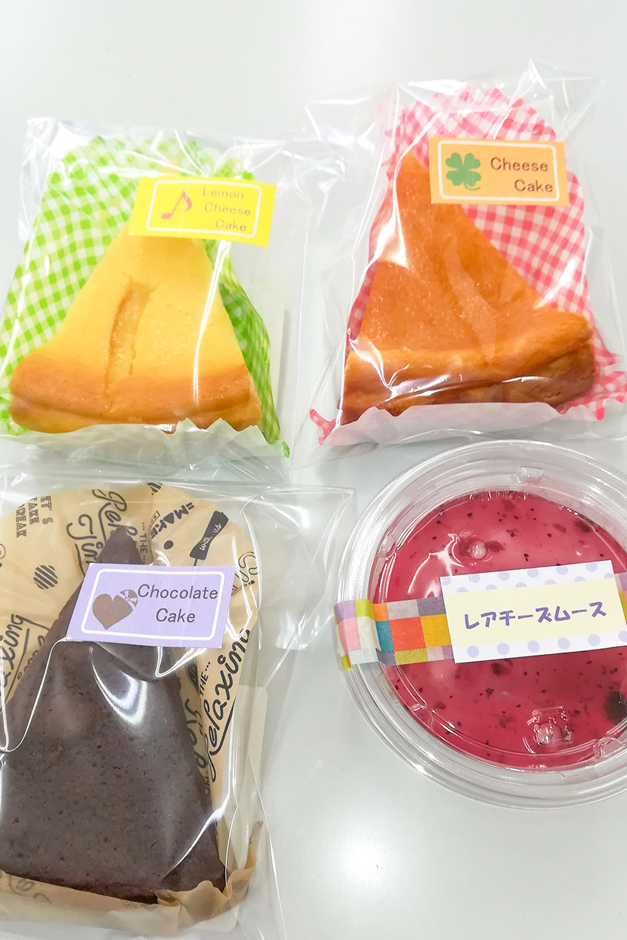 各種ケーキ:180円~230円